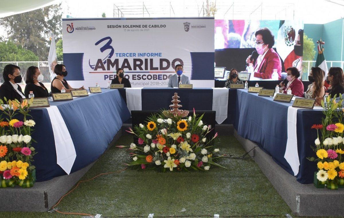 Balance Positivo en Tercer Informe de Gobierno de Amarildo Bárcenas en Escobedo