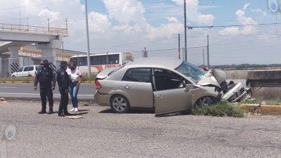 Aparatoso accidente en la carretera SJR – Xilitla