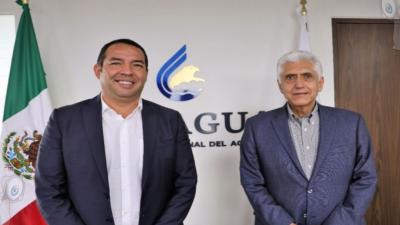 Roberto Cabrera presenta proyectos en CONAGUA