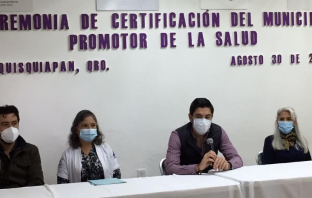 Tequisquiapan recibe certificación como Municipio Promotor de la Salud 2018-2021