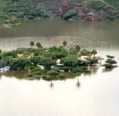 """Se inunda campamento ecoturístico """"La Isla Tzibanzá"""" en Cadereyta"""