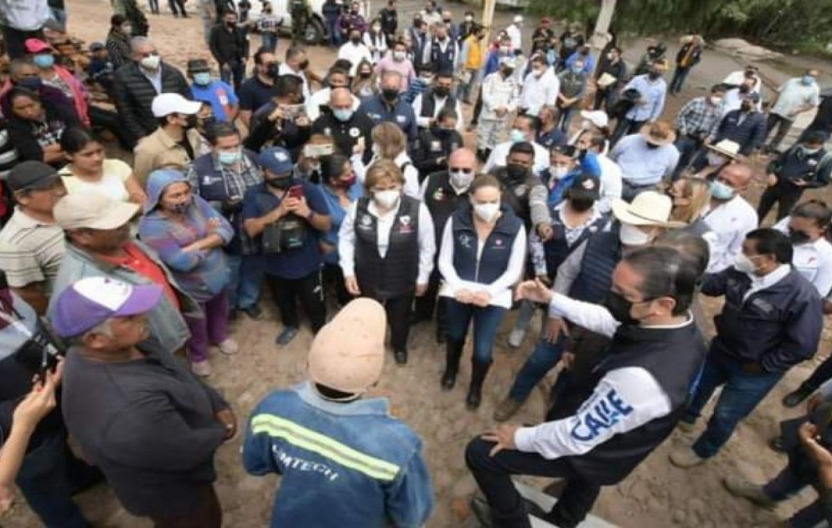 Recorre el Gobernador zonas afectadas por inundaciones en Tequisquiapan