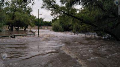 Piden autoridades resguardarse ante posibles inundaciones en próximas horas en SJR