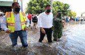 Recorren Mauricio Kuri y Roberto Cabrera zonas afectadas por inundaciones en SJR