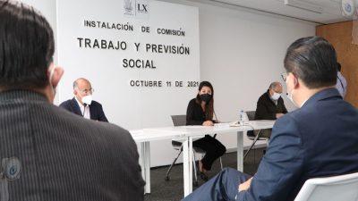 Inició actividades la Comisión de Trabajo y Previsión Social de la LX Legislatura