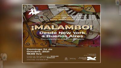 ¡Malambo! Música popular de América a dos pianos llega al Museo de la Ciudad