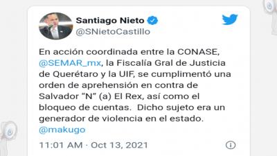 """Detienen en SJR a """"El Rex"""" líder criminal"""