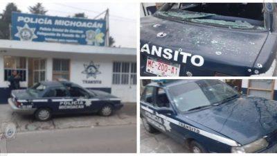Ataque armado a base policial de Tlalpujahua deja cuatro muertos